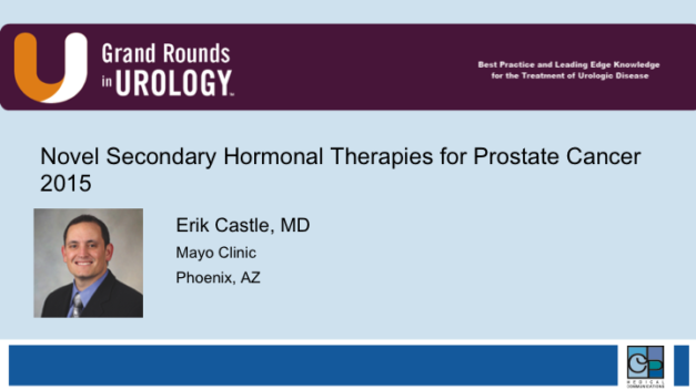 Novel Secondary Hormonal Therapies for Prostate Cancer 2015