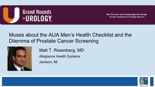 Muses about the AUA Men's Health Checklist and the Dilemma of Prostate Cancer Screening