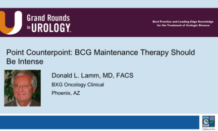 Point Counterpoint: BCG Maintenance Therapy Should Be Intense