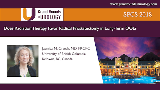 Does Radiation Therapy Favor Radical Prostatectomy in Long-Term QOL?