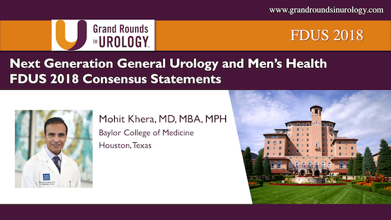 FDUS 2018-Next Generation General Urology and Men's Health