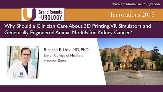 Why Should a Clinician Care About 3D Printing, VR Simulators and Genetically Engineered Animal Models for Kidney Cancer?