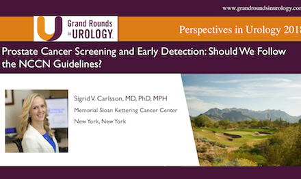 Prostate Cancer and Early Detection: Should We Follow the NCCN Guidelines?