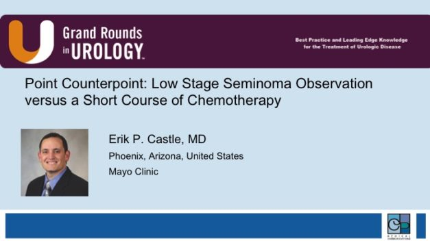 Point/Counterpoint: Low Stage Seminoma Observation versus a Short Course of Chemotherapy