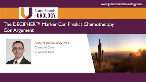Can the DECIPHER Marker Predict Chemotherapy?