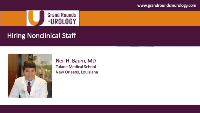 Dr. Baum - Hiring nonclinical staff